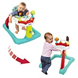 Kolcraft Tiny Steps 2-in-1 Infant & Baby Activity Walker - Seated or Walk-Behind, Jubliee