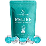 BodyRestore Shower Steamers (Pack of 15) Gifts for Women and Men - Eucalyptus & Peppermint Essential Oil Scented Aromatherapy Shower Bomb, Nasal Congestion Relief Shower Tablets – Gift for Mom