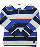 Janie and Jack Boy's Striped Rugby Tee - 3-6 Months - Royal Blue Stripe