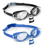 Aegend 2 Pack Swim Goggles, Swimming Goggles Flat Lenses, Adult Men Women Youth