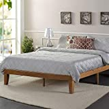 Zinus Alexia 12-Inch Standard Wood Platform Bed in Rustic Pine Finish, Queen - No Boxspring Needed, Wood Slat Support