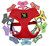 Classic Dog Harness Innovative Mesh No Pull No Choke Design Soft Double Padded Breathable Vest for Eco-Friendly Easy Control Walking Quick Release for Puppies Toy Breeds & Small Dogs (Small, Red)