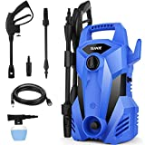 Pressure Washer,TEANDE 2300 Max PSI Electric Pressure Washer,Portable High Power Washer Machine 2.2 GPM, High Pressure Hoses, Detergent Tank Blue