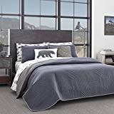 Eddie Bauer | Hidden Lake Collection | Quilt Set - Reversible & Light-Weight Quilt Bedspread with Matching Shams, 3-Piece Bedding Set, Pre-Washed for Extra Comfort, Queen, Blue