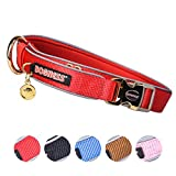 DOGNESS Dog Collar Classic Series - Size L/XL(Suit for Dog 55kg or Below) Nylon/Polyester Ribbons, Color Red…