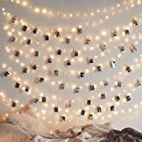 Twinkle Star 200 LED 66 FT Copper String Lights Fairy String Lights 8 Modes LED String Lights USB Powered with Remote Control for Christmas Tree Wedding Party Home Decoration, Warm White