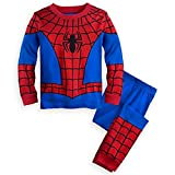 Disney Store Deluxe Spiderman Spider Man PJ Pajamas Boys Toddlers (S 5 Small 5T), Red