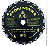 FORESTER Brush Cutter Blades and File Set - Trimmer Chainsaw Tooth Saw Blade - for Trimming Trees, Cutting String, Underbrush, and More - 20 Tooth 9' Circular Brush Blade with 3/16' File