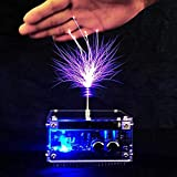 LIQIU Mini Music Tesla Coil, Solid State Artificial Lightning, Science Education Products, Wireless Lightingpower Transmission Experiment Desktop Toy Model