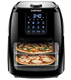 Chefman 6.3 Quart Digital Air Fryer+ Rotisserie, Dehydrator, Convection Oven, 8 Touch Screen Presets Fry, Roast, Dehydrate & Bake, BPA-Free, Auto Shutoff, Accessories Included, XL Family Size, Black