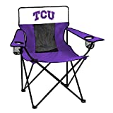 NCAA Logo Brands TCU Horned Frogs Elite Chair, Team Color
