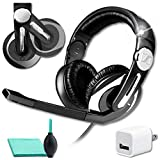 Sennheiser PC 330 Gaming Headset with Noise Canceling Microphone Bundle