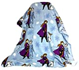 Five Below Frozen 2 Anna, Elsa, and Olaf Blue Polyester Travel Blanket