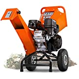 SuperHandy Wood Chipper Shredder Mulcher 7HP Engine Heavy Duty Compact Rotor Assembly Design 3' Inch Max Capacity Aids in Fire Prevention and Building Firebreaks