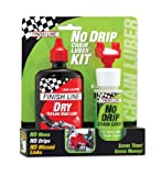 Finish Line No Drip Chain Luber Kit with 4-Ounce DRY Lube and Applicator, 2-Ounce