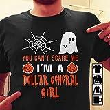 Dollar General Girl Halloween Shirts You Can't Scare Me Tshirt, Long Sleeve, Sweatshirt, Hoodie, tshirt, tshirt