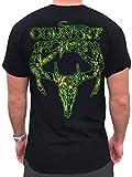 Country Life Camo Deer Skull Black & Green Short Sleeve Shirt (Small)