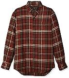 G.H. Bass & Co. Men's Fireside Flannels Long Sleeve Button Down Shirt, Arabian Spice, XX-Large
