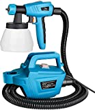 Tilswall Paint Sprayer, 800 Watt High Power Hvlp Home Electric Paint Gun With 1300ml Detachable Container, 3 Nozzles, 3 Spray Patterns For Wood, Furniture, Wall, Fence, Cabinets, Home Painting