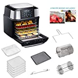 GoWISE USA 17-Quart Air Fryer & Food Dehydrator - 5 Drying Trays plus 6 Additional Accessories - Perfect for Drying Beef Jerky, Herbs, Fruit, Vegetables, Dog Treats