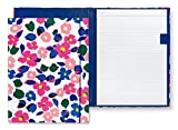 Kate Spade New York Floral Leatherette Notepad Folio, Professional Padfolio with Lined Writing Pad, Interior Pocket, and Pen Loop, Botanical Garden