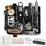 35 in 1 Survival Gear and Equipment, Emergency Survival Kit, Survival Gear Gifts for Men, Outdoor Survival Tool for Hiking, Hunting, Camping Adventures, Outdoors Sport