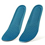 Bottokan Memory Foam Insoles for Men-Shock Absorption Enhanced Pressure Relief Insoles for Running and Sports Shoe Inserts-Foot Massage Insoles for Daily Use-Sweat Absorption Breathable Insoles
