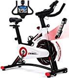 Exercise Bike, CHAOKE Indoor Cycling Bike, Stationary Bike Magnetic Resistance Whisper Quiet for Home Cardio Workout Heavy Flywheel & Comfortable Seat Cushion with Digital Monitor (2020 Upgraded)