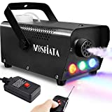 MOSFiATA Fog Machine with Controllable Lights, 500W DJ LED Smoke Machine 3 Colors Lights with Wireless Remote Control and Wired Control 2000 CFM Huge Fog for Halloween Christmas Parties Weddings