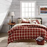 G.H. Bass Autumn Plaid 100% Cotton 3-Piece Comforter & Sham Set, King, Spice