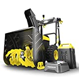 PowerSmart Snow Blower, 24-inch Cordless Snow Blower, 80V 6.0Ah Lithium-Ion Battery Powered Snow Blower, Electric Snow Thrower 180°Chute Rotation, Self-propelled, Panel Control, DB2805