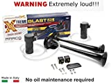 Marco Xtreme Blast Electric Horn – Italian Tuck Accessories – Extremely Loud Car Horn – Comes with Dual Compressor – 120 dB Loud Truck Horn for Improved Safety