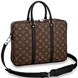 Louis Vuitton Monogram Macassar Canvas Porte-Documents Voyage PM Briefcase Laptop Bag Article: M52005