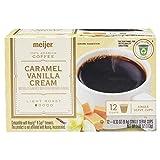Meijer Caramel Vanilla Cream Coffee Light Roast 12 Single Cup Coffee Pod