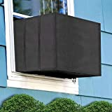 Aozzy Air Conditioner Covers for Window Units Ac Covers for Outside Unit Winter Outdoor Heavy Duty Waterproof Insulation Defender with Adjustable Straps 27.5' W x 19' H x 23' D Inches