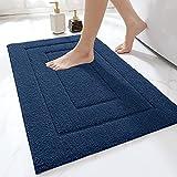 DEXI Bathroom Rug Mat, Extra Soft Absorbent Premium Bath Rug, Non-Slip Comfortable Bath Mat, Carpet for Tub, Shower, Bath Room, Machine Wash Dry, 16'x24', Navy