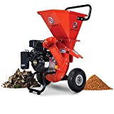 GreatCircleUSA Wood Chipper Shredder Mulcher Heavy Duty 212cc Gas Powered 3 in 1 Multi-Function 3' Inch Max Wood Diameter Capacity EPA/CARB Certified Aids in Fire Prevention - Building a Firebreak