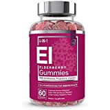 Elderberry Gummies for Adults - 4-in-1 Immune Support Formula with Sambucus nigra, Vitamin C, Echinacea, Propolis Extract | by Essential Elements - 60 Count