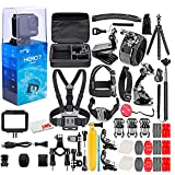 GoPro - HERO7 Silver 4K Waterproof Action Camera - with 50 Piece Accessory Kit - Touch Screen 4K HD Video - 10MP Photos - Live Streaming Stabilization - Silver - Loaded Bundle