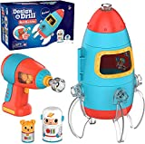 Educational Insights Design & Drill Bolt Buddies Rocket: Fine Motor Skills & STEM Toy, Perfect Drill Toy for 3+