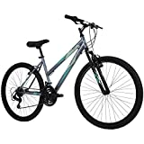 Huffy Hardtail Mountain Bike, Stone Mountain, 26 inch, 21-Speed, Charcoal, 26 Inch Wheels/17 Inch Frame, Model Number: 76818