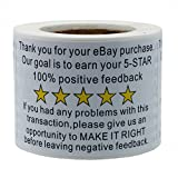 Hybsk 2'x3' Ebay Thank You for Your Purchase Feedback Shipping Labels Adhesive Label 200 Per Roll