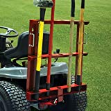 MoJack Tool Carrier with Free Multi-Use Hitch - Universal Residential Riding Lawn Tractor Attachment for Easy Tool Transportation, 60lb Weight Capacity