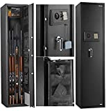 EXTRA deep SECUSTAR 5-Gun Security Cabinet for rifles and pistols with external battery box