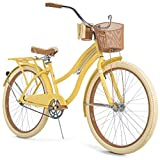 Snow Shop Everything Nel Lusso Classic Cruiser Bike Frame, Women's, Yellow, 26'