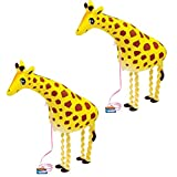 SUSHAFEN 2 Pcs Giraffe Walking Animal Balloons Inflatable Animal Balloons Toy Ballons Kids Farm Animal Theme Birthday Party Supplies Home Garden Decorations