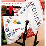Jo-Ann Fabric and Craft Stores Baby Alphabet 45 Inch x41 Inch Afghan Cloth