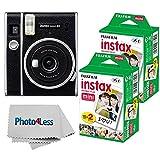 Fujifilm Instax Mini 40 Instant Camera + Fujifilm Instax Mini Twin Pack Instant Film x2 - Instant Camera Gift Bundle