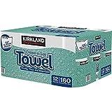 Kirkland Signature Premium Big Roll Paper Towels 12-roll, 160 Sheets Per Roll