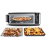 Ninja Foodi SP101/FT102CO Digital Fry, Convection Oven, Toaster, Air Fryer, Flip-Away for Storage, with XL Capacity, and a Stainless Steel Finish (Renewed)